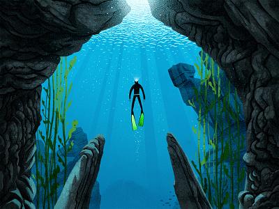 Like a bird ocean life breath weightless bird rocks atlantic swimming ocean freediving