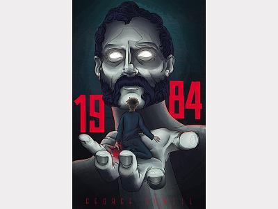 1984 1984 illustration alternative bookcover orwell bigbrother digitalart