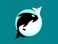 Whale yin yang