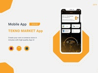 Tekno Market App hexacit hexa adobe photoshop adobe xd design ux uidesign app android