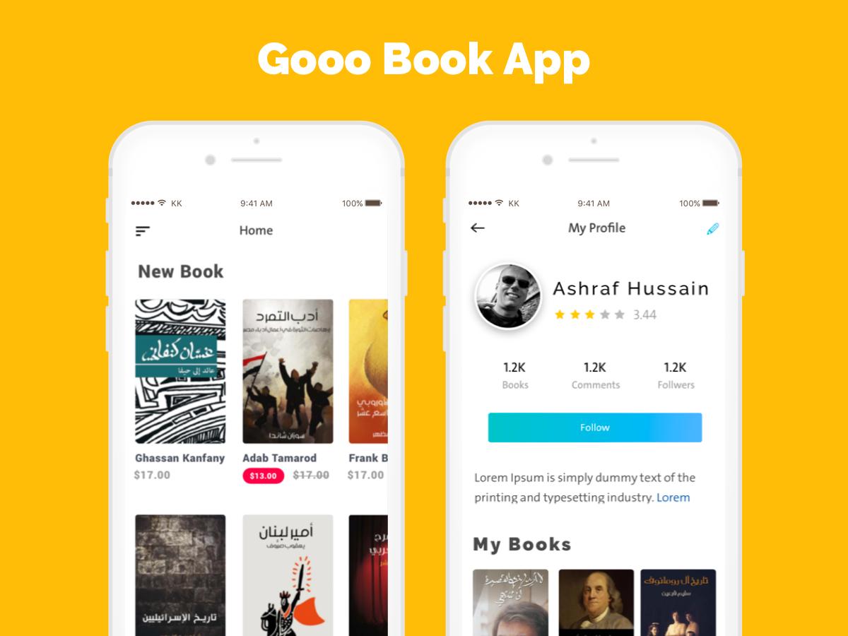 Gooo Book ux animation apps usibality persona ui design design ux ui