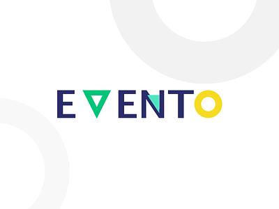 Evento midnight blue yellow green logo 2d logo