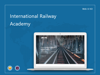 International Railway Academy icon design illustration ux ui
