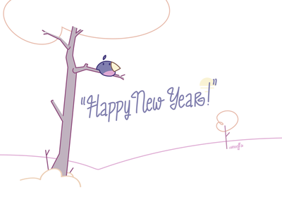 Happy New Year 2020 – Birdie chriseff seasons greetings snow bird loop animation 2020 happy new year loop 2d animation animation