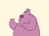 Amazed Espresso Bear