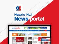 Onlinekhabar New UI design and development
