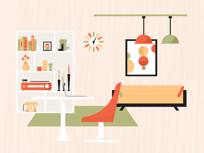 Mid-Century Living –Livingroom