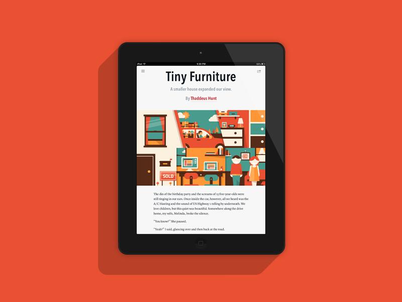 Tiny Furniture Illustration tiny furniture illustration magazine digital ipad flat geometric fun cute dominic flask dangerdom