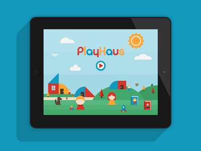 PlayHaus - The App ipad app kids dominic flask dangerdom illustration vector cute fun shapes geometry