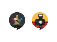 Location Icons - Mic & Camera
