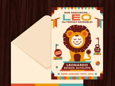 Lion Birth Announcement