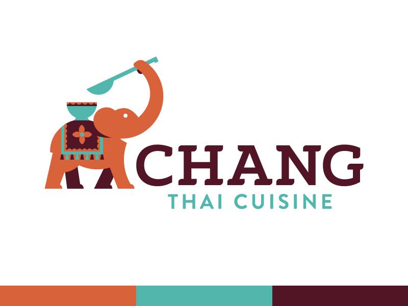Thai Restaurant Logo - New Skillshare Course dangerdom dominic flask illustration flat vector fun cute logo identity elephant thai food