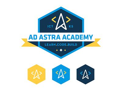 Ad Astra Academy Logo dominic flask dangerdom design logo illustration star kansas ad astra code academy