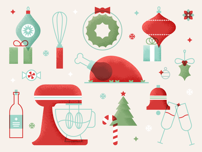 Albertsons Holiday Graphics turkey snow candy cane wine bells wreath ornament tree baking food holiday christmas