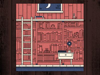 Hopes and Dreams vector illustration ladder wood barn camera studio loft library books dangerdom dominic flask