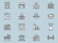 Icon Set – Buildings and Architecture