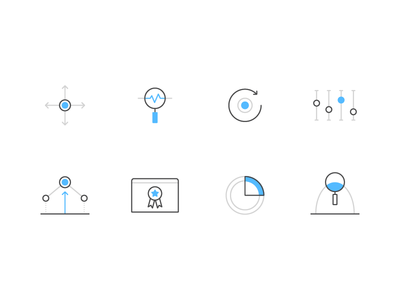 40/52 – Data is Science product brand blue line vector icon science data dominic flask illustration design dangerdom