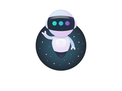 42/52 – Astrobot tech mascot bot astro space robot brand character design illustration dangerdom dominic flask