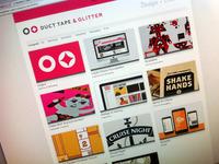 Duct Tape & Glitter Website