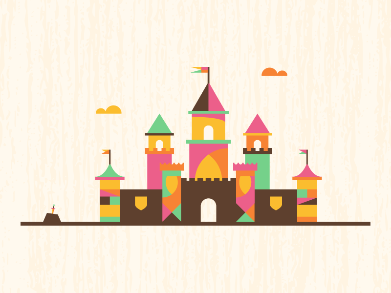 Colorful Castle By Dominic Flask Dribbble