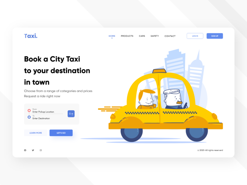 Taxi landing page tecorb dribble design web cab service taxi booking booking website design taxi app