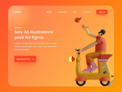 Saly Illustrations typography vector ui ux branding logo illustration userinterface mobileapp design