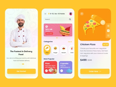 Food App delivery app food application food app vector ux branding mobileapplication illustration online userinterface mobileapp design