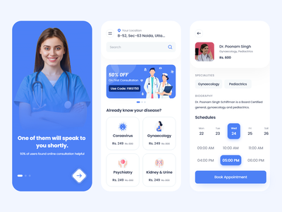 Doctor App animation mobileapplication userinterface tecorb design mobileapp branding illustration doctor app doctor appointment doctor ondemandapp