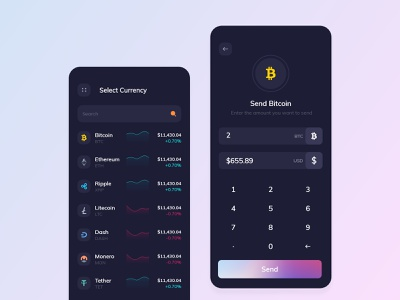 Cryptocurrency app booking android animation mobileapplication illustration userinterface tecorb mobileapp design cryptocurrency app