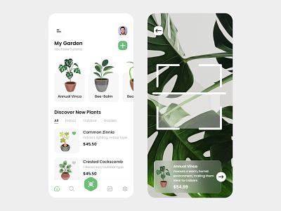 Plant Shop App vector illustration userinterface ux ui tecorb design mobileapp plant shop ux plant ui plant app 3d branding logo motion graphics graphic design animation plant careing app