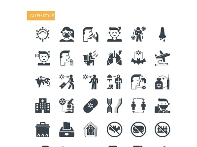 Free Coronavirus Icons travel crowd avoid concept cleaning healthcare medical infection wearing mask cough line virus pandemic flu health freebie free covid-19 icons coronavirus