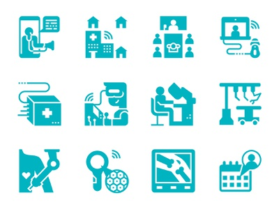 Telehealth Glyph Icons surgery patient doctor solid glyph icon set icon healthcare telehealth software hospital medicine medical telehealth