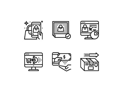 Ownerie custom icons listing paid shipping online picture snap website shopping selling line icon ownerie
