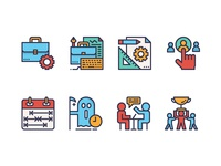 Business management icons