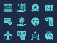 Customer loyalty program icons