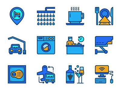 Hotel facilities icons