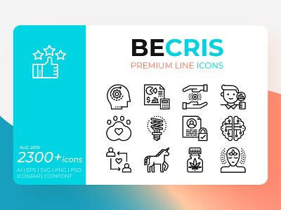 Becris Premium Line Icons design resource icon design icon set ui design concept web illustration outline icon line becrisdesign