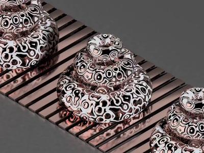 Rings on belt fluid loop animation motiongraphics metallic rings looped minimal illustration design cinema 4d cgi c4d 3d