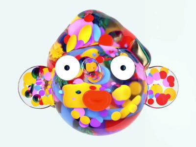 Clearboy rainbow sky fluid 3d adobe illustration design cinema 4d cgi c4d