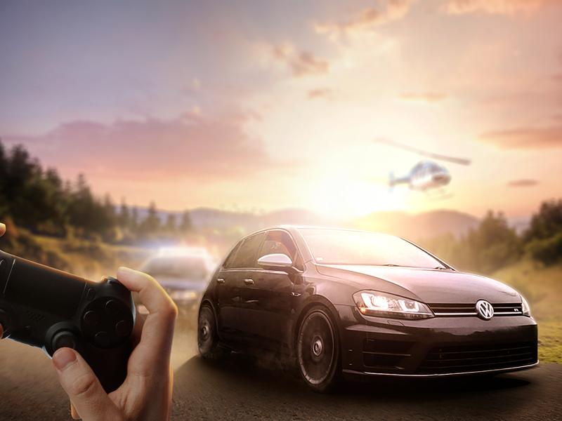 Cheat Code photoshop vw car manipulation digital imaging playstation
