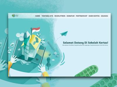 Sekolah Kertas Landing Page