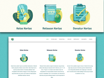 Website Icons Sekolah Kertas
