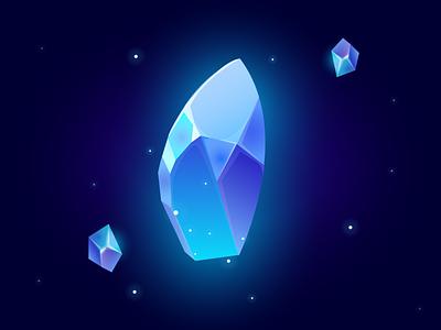 crystals vector illustration