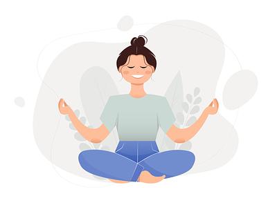 Yoga vector 2d illustration