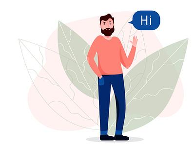 Vector human 2d vector illustration