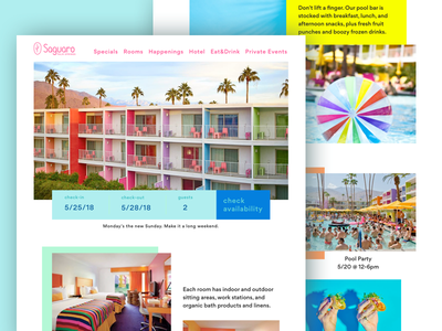 The Saguaro Hotel Design Concept ui design visual design landing page design concept hotel design the saguaro
