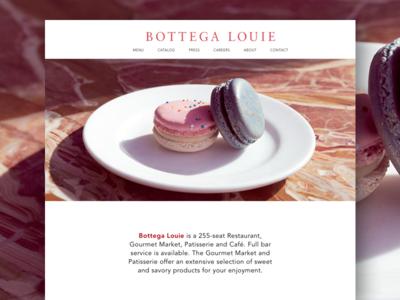Bottega Louie Homepage Redesign Concept bottega louie restaurant homepage design user interface design cafe design restaurant design redesign concept homepage design landing page uxui design web design