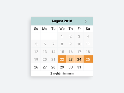 Date Range Picker for Booking user interface reservation calendar ui product design ux design ui design hotel booking vacation home rental booking calendar picker date range picker