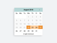 Date Range Picker for Booking