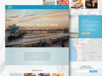 Redondo Beach Pier Homepage Design Concept
